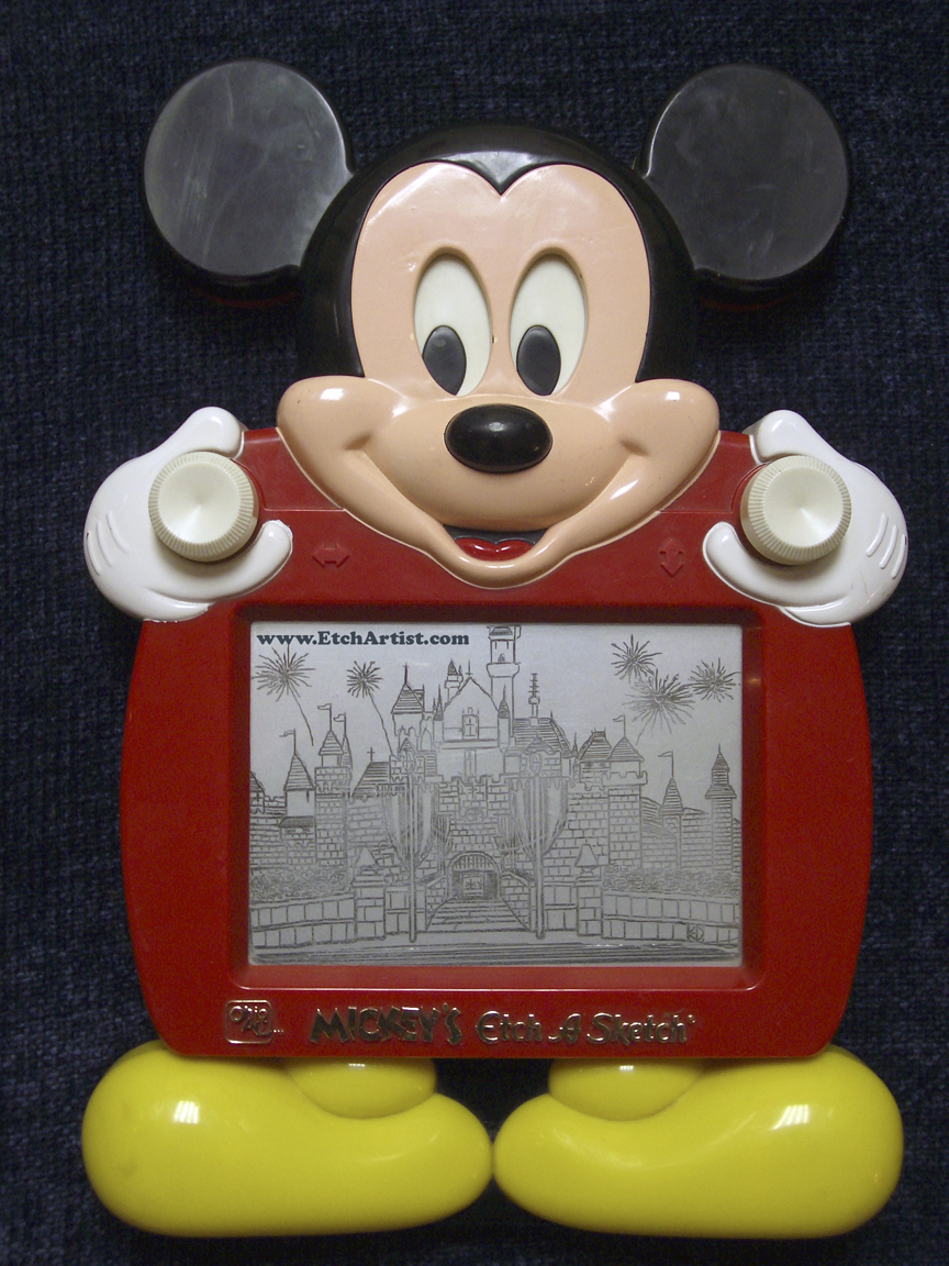 Mickey Mouse Etch A Sketch